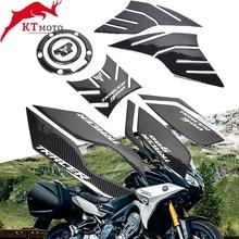 Dla Yamaha TRACER 900 GT Tracer 900GT 2018 2020 motocykl 3D z włókna węglowego zbiornik paliwa paliwa Pad naklejka naklejka Protector pokrywa