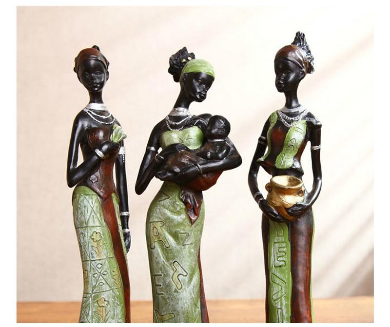 Figuras de resina de escultura de personagem