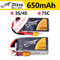 Batteria ricaricabile ACE Tattu LiPo 3S 4s 650mAh 11.1V 14.8V 75C 1P per RC FPV Racing Drone Quadcopter