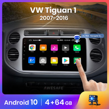 AWESAFE PX9 pour Volkswagen Tiguan 2012 1 NF 2006 - 2017 autoradio multimédia lecteur vidéo GPS No 2din 2 din Android 10.0 2GB + 32GB