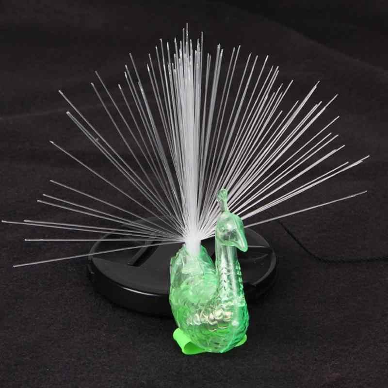 Светящаяся лампа в виде павлина на палец цветной яркий светодиодный осветительные кольца гаджеты для вечеринки Интеллектуальная Детская игрушка для вечерние подарок случайного цвета