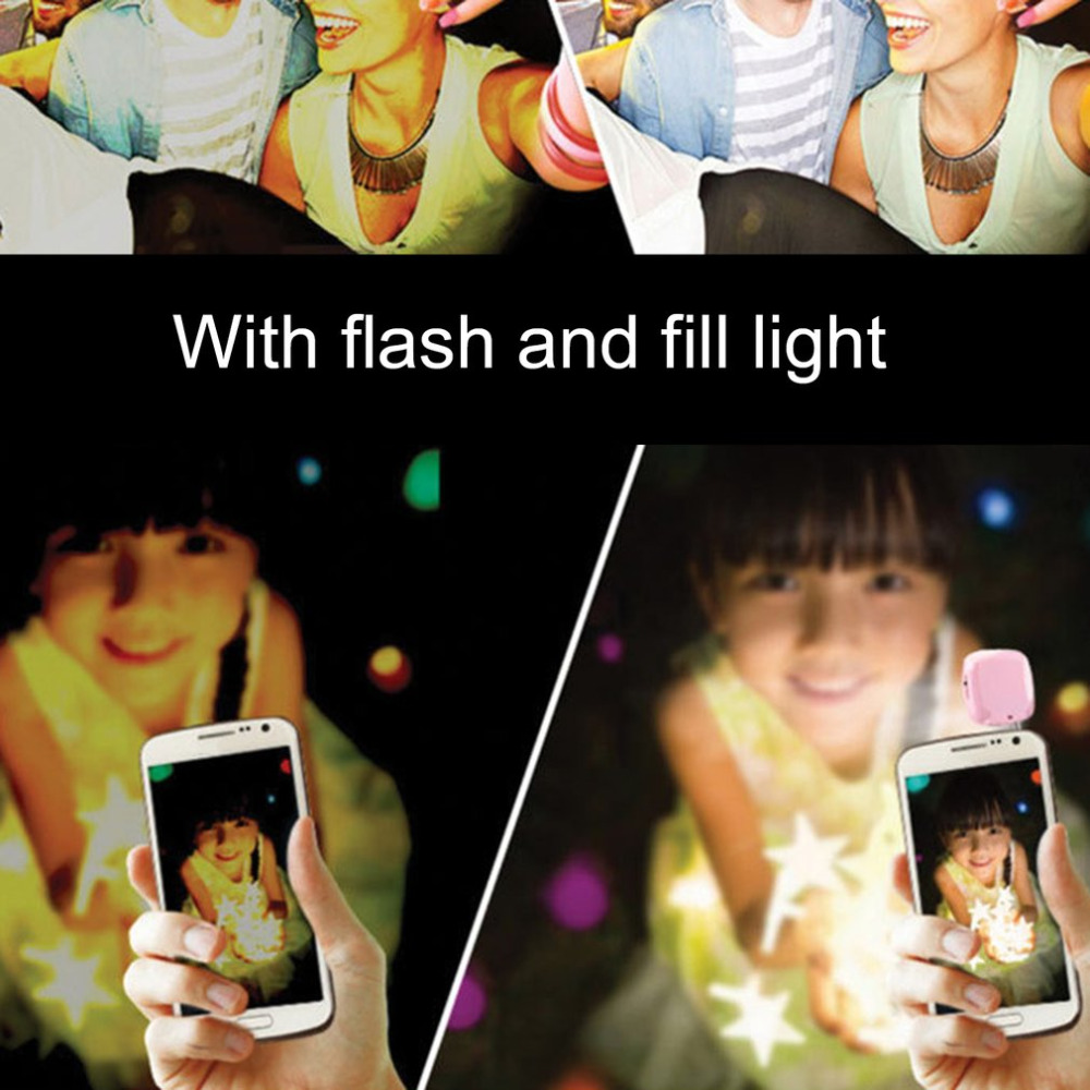 16pcs LED Mini Flash Fill Light Bright LED Video Light Lamp Suitable For Mobile Phone Selfie Brightness Photography Lamp 3.5mm