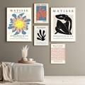 Moderne Remake Druck Henri Matisse Ausstellung Poster Staubigen Rosa Wand Kunst Leinwand Malerei Abstrakte Bilder für Wohnzimmer Decor