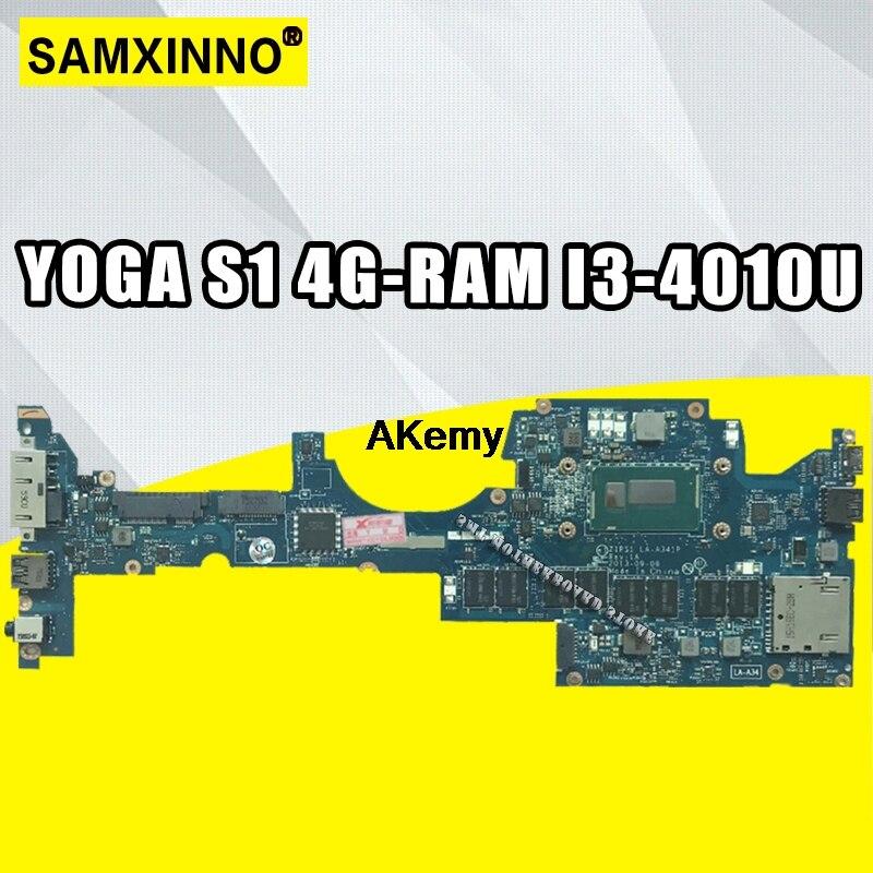 ZIPS1 LA-A341P Laptop Motherboard For Lenovo ThinkPad YOGA S1 Original Mainboard 4G-RAM I3-4010U