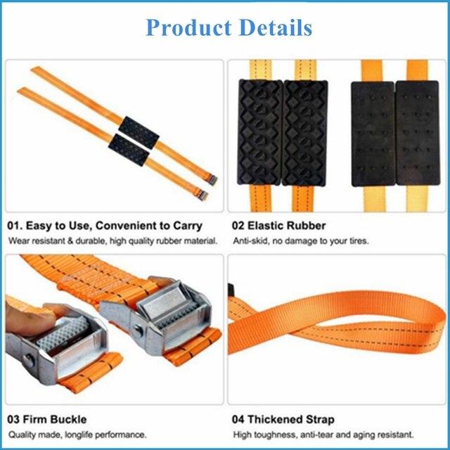 Тяговые блоки BENOO 1/2/4 шт., прочные нескользящие блоки из полиуретана для автомобильных шин с чехлом 2