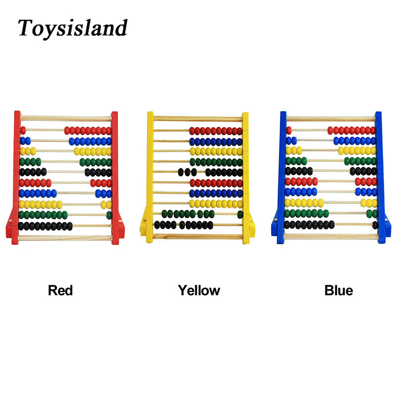 Montessori Toys Wooden Abacus Arithmetic Baby Kids Educational Math Toy Learning Sensory Toys for Children(China)