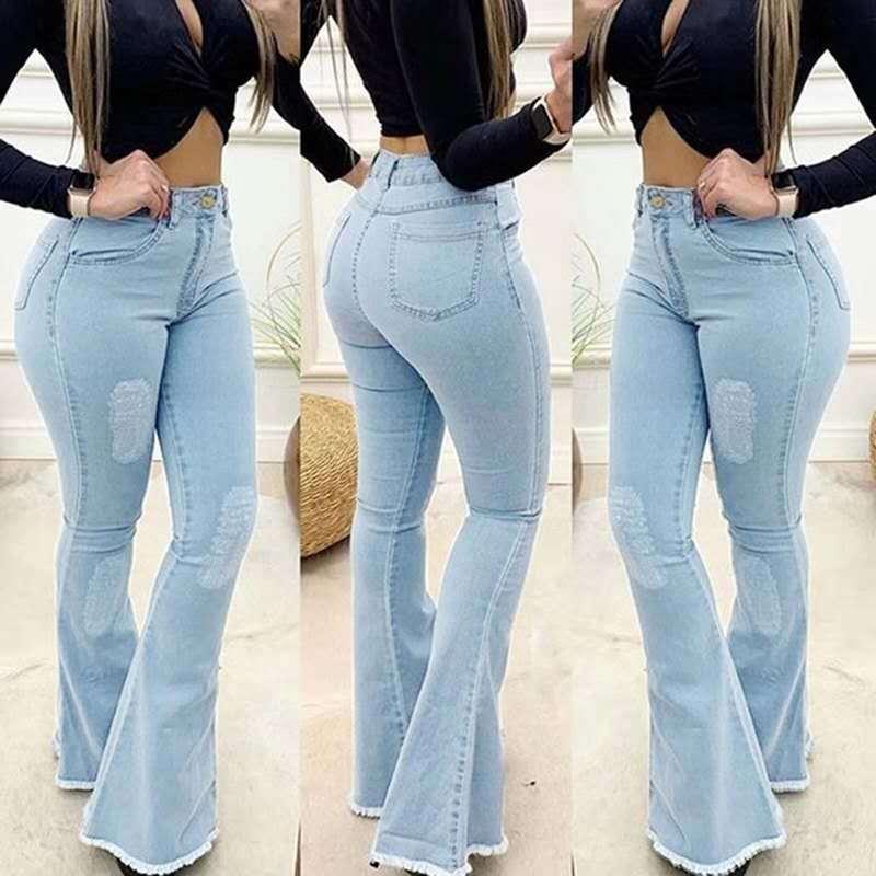 Купить лидер продаж 2020 джинсы однотонные пикантные облегающие брюки