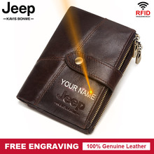 Famous Brand 100% Genuine Leather Rfid Wallet Men Wallets Co