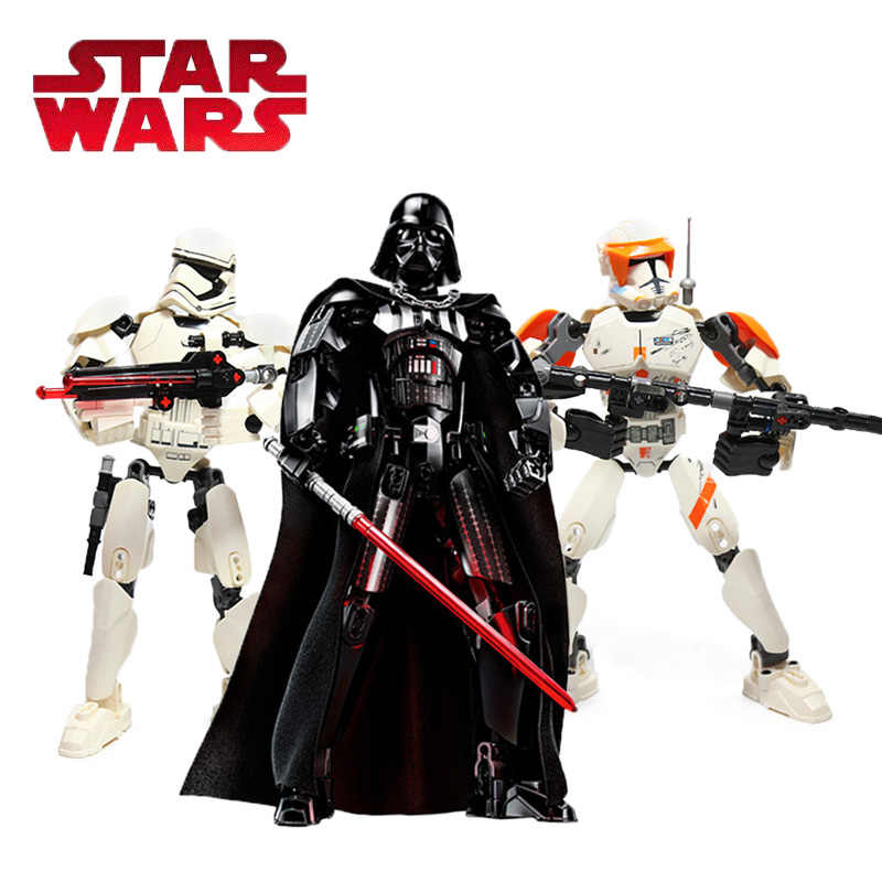 Star Wars Giocattoli Edificabile Figura Building Block Toy Darth Vader Kylo Ren Stormtrooper Chewbacca Boba Jango Grievou Action Figure