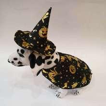 Шляпа для животных Собака Хэллоуин Волшебная Шляпа и одежда тыква шляпа шаль для собаки шляпа костюм 2 компл./лот