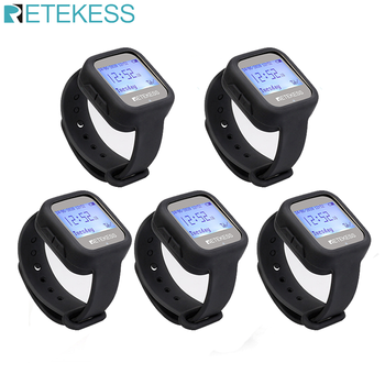 Retekess 5pcs TD106 Wireless Watch Receiver 433MHz Multi-language Pager Waiter Calling System Restaurant Pager Customer Service