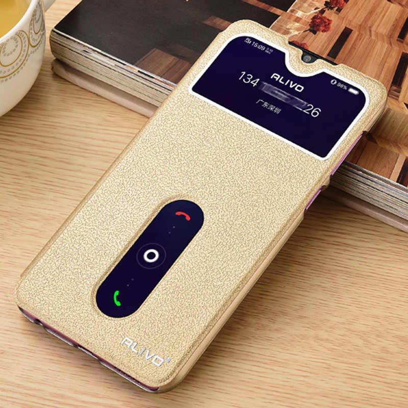 """עבור Vivo Y11 2019 נרתיק עור צפו חלון ספר Stand Case Flip עבור VIVO Y11 2019 Y 11 כיסוי טלפון מקרים עבור Vivo Y11 2019 6.35"""""""