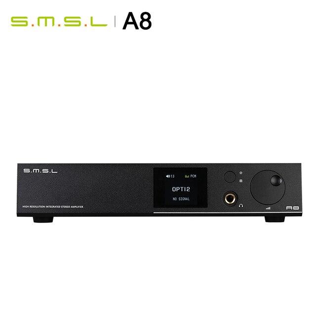 Smsl a8 hi res alta fidelidade fone de ouvido amplificador dac decodificador xmos solução icepower 125wx2 módulo ak4490 suporta pcm