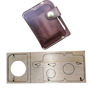 2 шт./компл., японский стальной нож, сделай сам, кожаный держатель для карт, держатель для монет, маленький кошелек, штамповочный перфоратор, р...