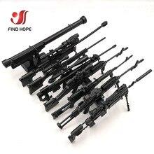 8Pcs/set 1/6 SVD TAC 50 Mk46 MK14 PSG 1 FIM 43 DSR Sniper Rifle Weapon Assemble Toy Gun Model For Action Figure