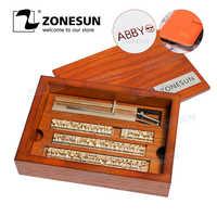 ZONESUN 6 мм на заказ латунный кожаный штамп DIY металлический Алфавит буквы цифры штамп с символом для штамповки инструмент для штамповки бренд...