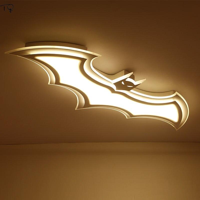 Современная Новинка, светодиодный потолочный светильник с Бэтменом из мультфильма, креативный акриловый светильник для защиты глаз, свети