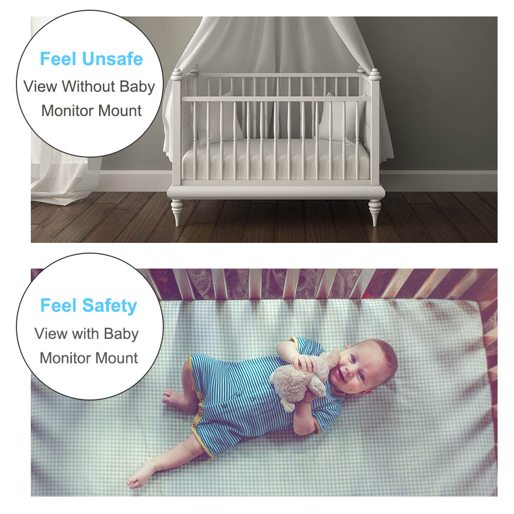 Flexible Kamera St/änder f/ür Kinderzimmerkein YIKANWEN Universal Baby Monitor Halter,Handyhalter sicherer Monitor f/ür Ihr Baby kein Bohren Baby Kamera Halterung