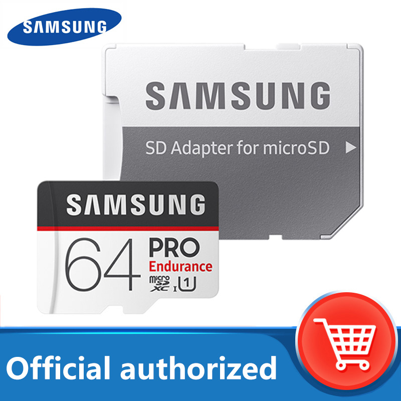 <font><b>SAMSUNG</b></font> <font><b>PRO</b></font> Endurance <font><b>Micro</b></font> <font><b>SD</b></font> Card 128GB 16G 32GB Class10 SDHC SDXC UHS-1 Memory card MicroSD TF Card 100MB/s With Adapter image