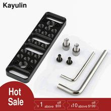 Многофункциональная Монтажная пластина Kayulin, пластина для сыра с соединениями 1/4-20 и 3/8-16 для фотооборудования