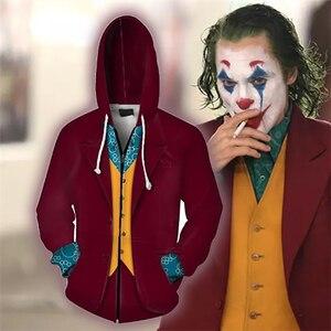 Image 2 - Movie Joker 2019 Joaquin Phoenix Cosplay Hoodies Batman Clown 3D Hooded Sweatshirts for Men Women Costumes Tops