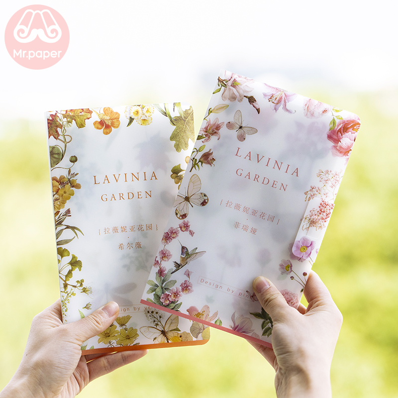 Mr Paper 8pcs/pack Artsy Style Lavinia Garden Flower Forest Stickers Diary Planner Decorative Scrapbooking DIY Children Stickers