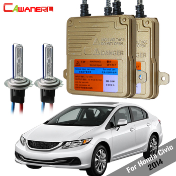 Cawanerl 55W Auto No Error HID Xenon Kit Ballast Light AC 3000 4300K 6000K 8000K Car Headlight Low Beam For Honda Civic 2014
