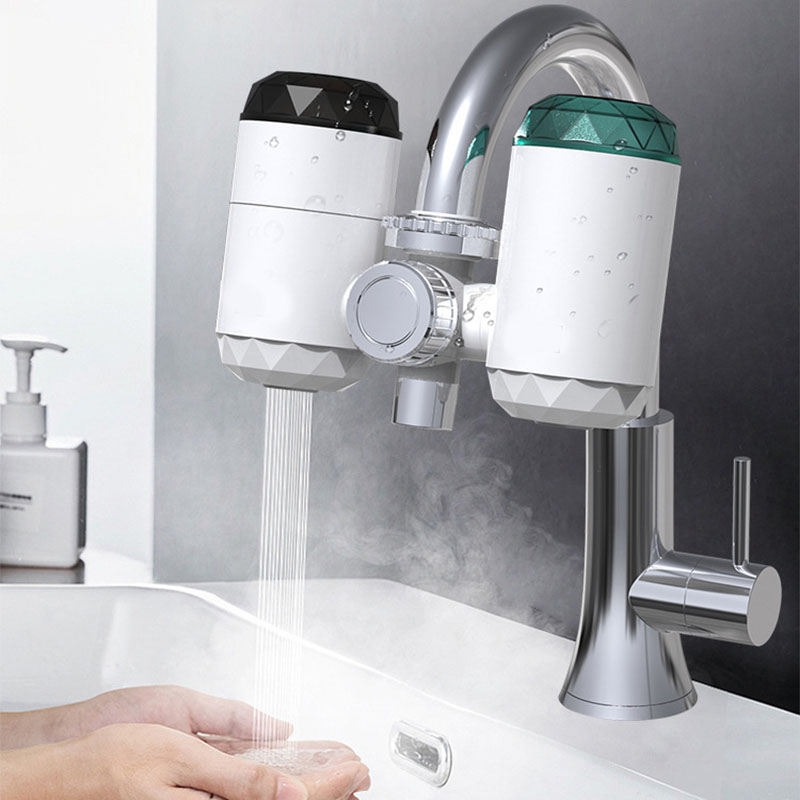 2 In 1 Kitchen Faucet Purifier Instant Hot Water 3000W Digital LCD Display Electric Water Heater Tankless Fast Heating Water Tap