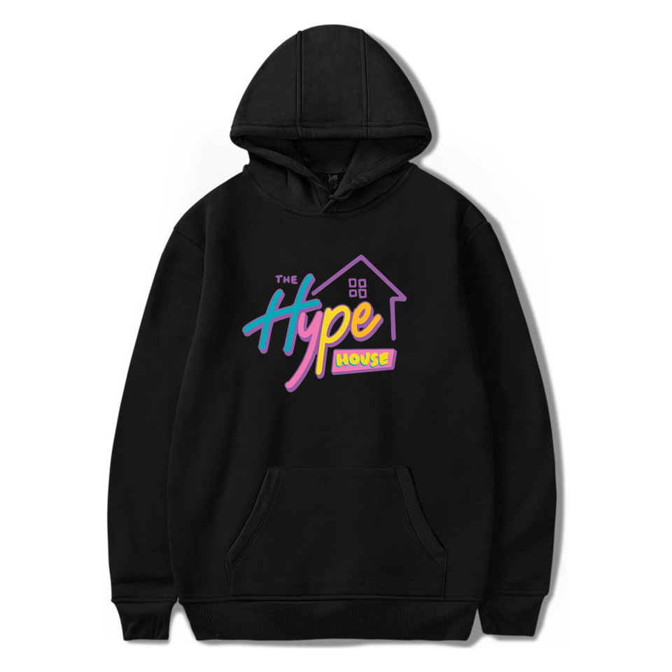 The Hype House Hoodies Charli D'Amelio Sweatshirts Men Women Print Addison Rae Hoodies Pullover Unisex Harajuku Tracksuit