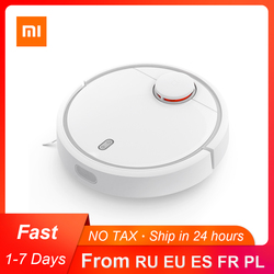 Original Xiaomi Mi Mijia Robot Vacuum Cleaner for Home Automatic Sweeping Dust Sterilize Smart Planned WIFI App Remote Control