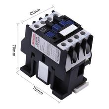 1PCS CJX2-0901 LC1 AC Contactor 9A 3 Phase 3-Pole NC Coil Voltage 380V 220V 110V 36V 24V 50/60Hz Din Rail Mounted 3P+1NC