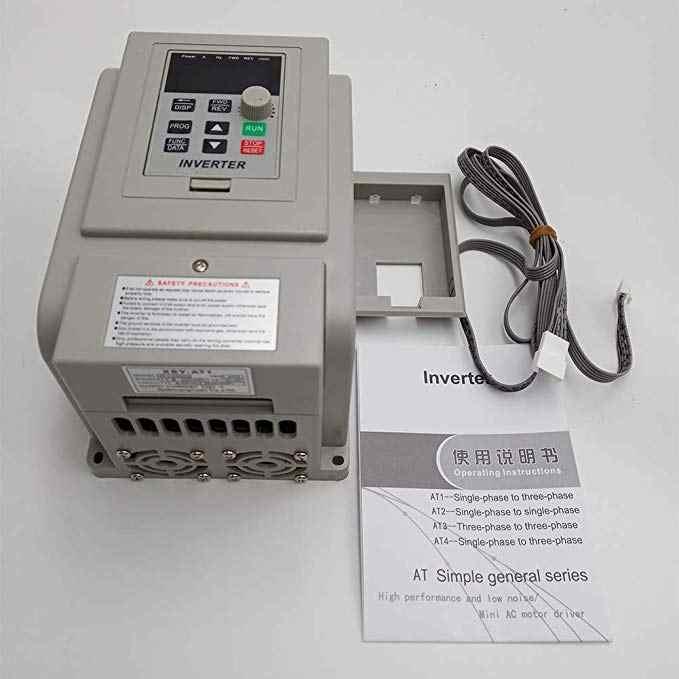 محول تردد VFD XSY-AT1 العاكس 1.5KW/2.2KW/4KW مرحلة واحدة 220 فولت المدخلات وثلاث مراحل الناتج سرعة المحرك المراقب المالي
