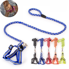 WH 120cm High Quality flexiable Leash Large small Dogs Traction Rope Dog Chest straps Collar Pet Belt Harnesses Set