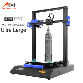 New Anet ET5X Large Size 3D Printer Reprap Prusa i3 DIY 3D Printer Max Pring Size 300*300*400mm With Auto Bed Leveling Fast Heat support resume after power off creality cr 10 mini 3d printer large prusa i3 kit diy 300 220 300mm desktop education 3d printer
