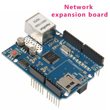 Clearance Cewaal Ethernet W5100 Network Expansion Board Module Shield For Arduino Mega With Micro SD Card Slot(China)