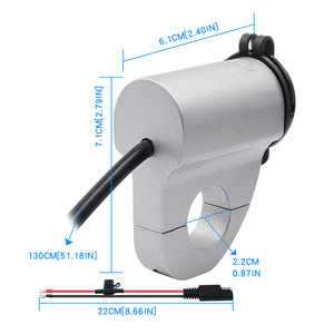 Image 2 - MoFlyeer Motorcycle USB Charger Aluminum Alloy Waterproof Mobile Phone Adapter 2.4A Digital Display Car Fast Charger with Switch