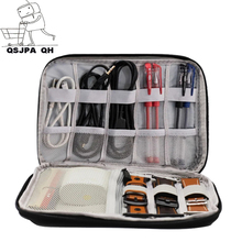 Digital Storage Bag USB Data Cable Organizer Earphone Wire Bag Pen Power Bank Travel Kit Case Pouch Electronics Accessories