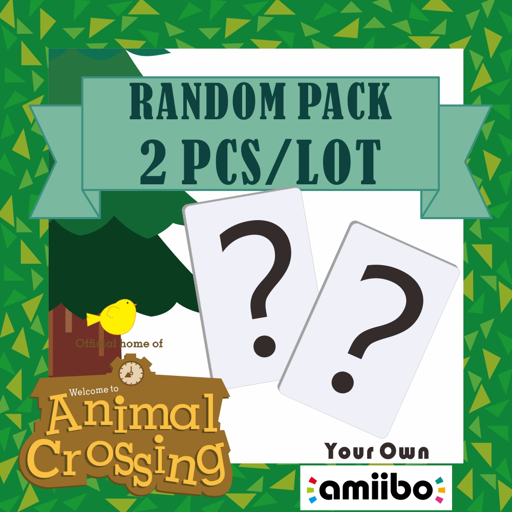 Randomly Ship 2pcs Animal Crossing Card Amiibo Card Work For NS Games Switch Rosie Welcome Stickers Amibo Ankha NFC Series 4