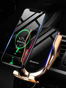 Mount Car-Phone-Holder Quick-Charger Sumsung Automatic-Clamp Qi iPhone Huawei Induction