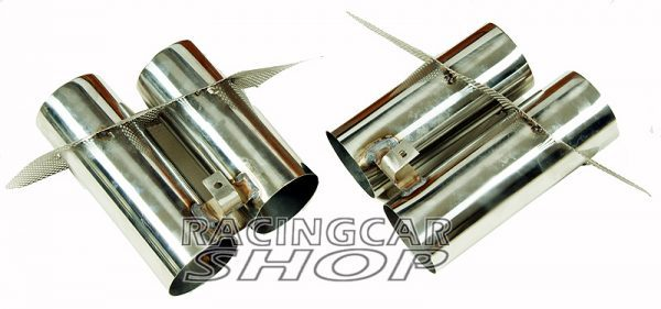 Quad Muffler Exhaust Tips Pip Stainless Steel 1PAIR For Mercedes Benz W117 C117 CLA 2014UP  M094W 2