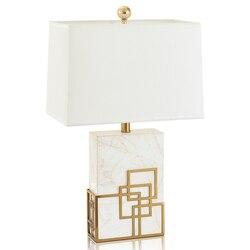 Led e27 postmodernistyczna Art Decor złota żelaza kryształ biały stół marmurowy lampy. Lampy biurko. LED biurko lampa do sypialni Foyer