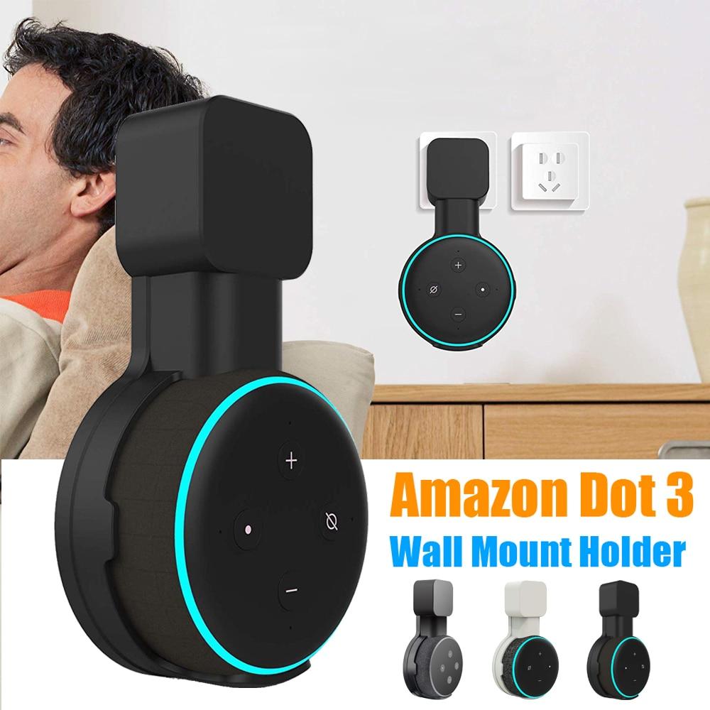 Настенный держатель для динамика, подставка-вешалка для Amazon Alexa Echo Dot 3-го поколения, Крытый чехол для звуковой коробки