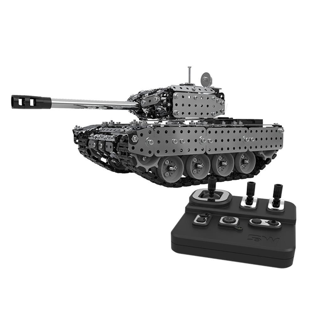 952 pièces RC réservoir blocs de construction assemblé militaire réservoir modèle armée militaire télécommande 80M Distance construction briques jouet