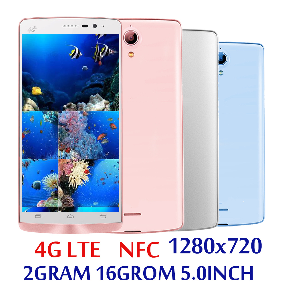 Мобильный телефон NFC 4G LTE, экран 5,0 дюйма, 5e смартфонов, телефон Глобальная версия 2 Гб ОЗУ + 16 Гб ПЗУ, четырехъядерный процессор, 5 Мп + 13 МП, HD, ...