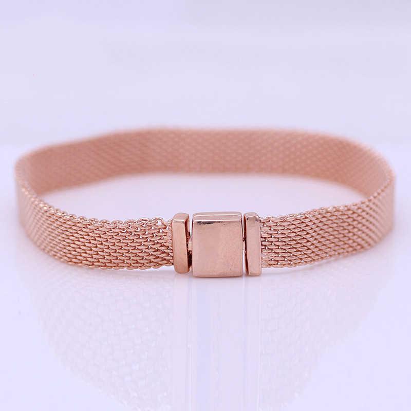 Heißer verkauf Authentische 925 Sterling silber Reflexions Silber Armbänder Fit Europäischen Charme Original Armband Für Frauen DIY Schmuck