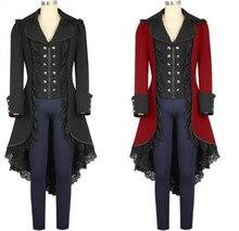 Idade média de vapor estilo punk feminino piratas halloween cosplay trajes vitoriano gótico medieval jaqueta rendas mulher smoking
