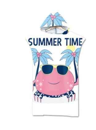 Nuova Spiaggia di Modo di Protezione Solare Antivento Spogliatoio Vestaglie Mantello Con Cappuccio da Spiaggia Asciugamano Da Bagno Stampe Può Indossare Poncho Asciugamani Da Bagno 110x75cm