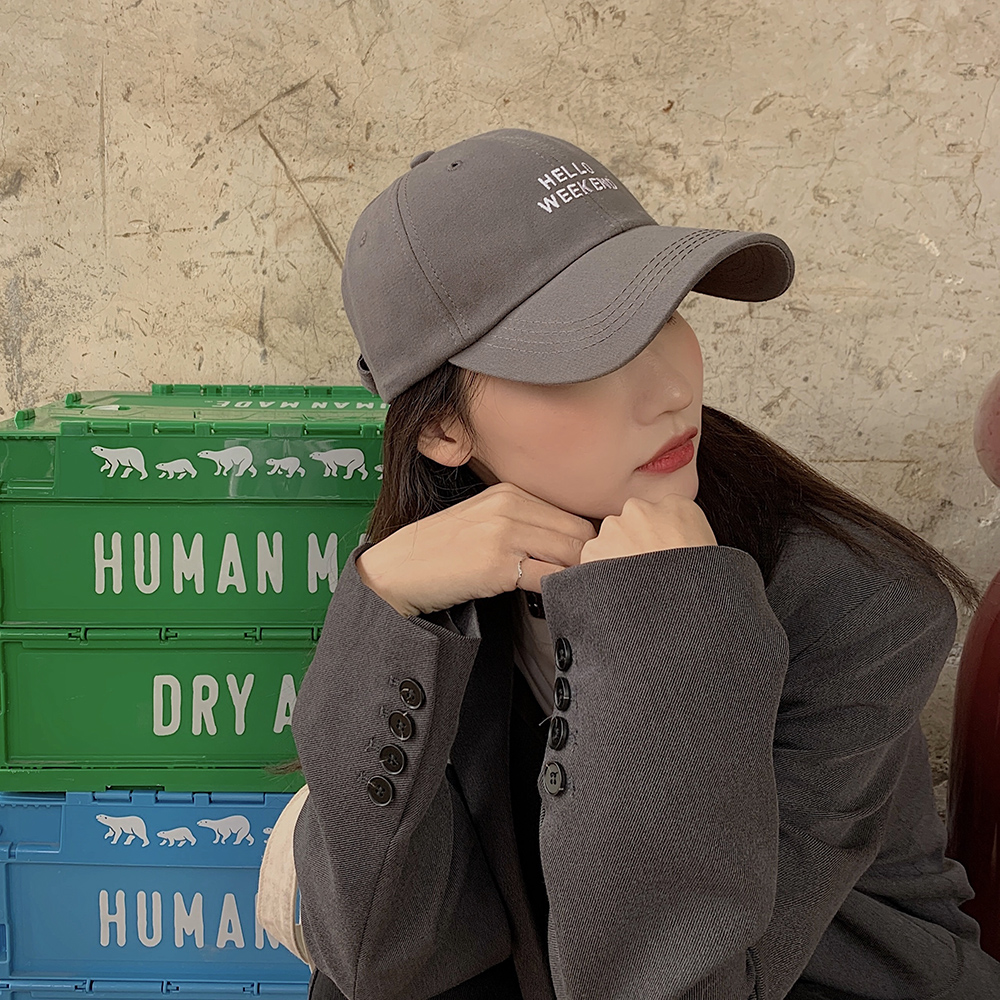 New Baseball Cap Female Korean-style Explicit Face Little Wild Popular Brand Big Slimming and Fashionable Casual Soft Top Peaked