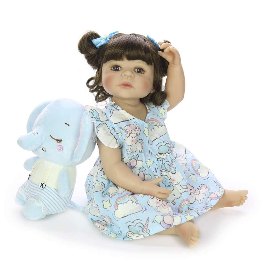22 ''55 cm Silicone corps complet Reborn poupées mode réaliste Reborn Boneca vivant poupée pour enfants jour cadeaux enfants présents - 4