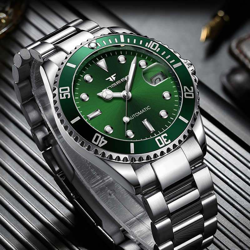 FNGEEN סדרת שלד מכאני אוטומטי שעון גברים Tourbillon ספורט שעון מזדמן עסקי יד מכאני שעון Montre homme